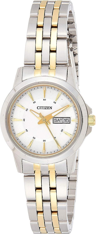 Citizen 32001973 - Reloj de pulsera analógico para mujer, cuarzo, acero inoxidable