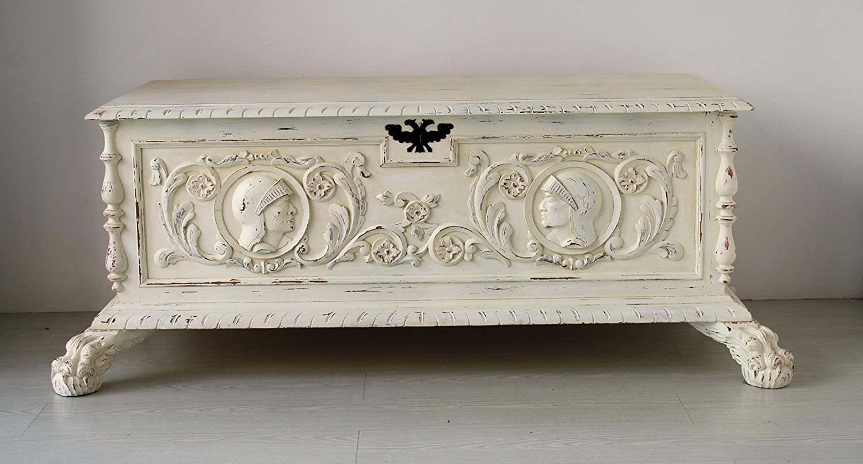 caja/mueble/blanco/antigüedad/baul: Amazon.es: Handmade