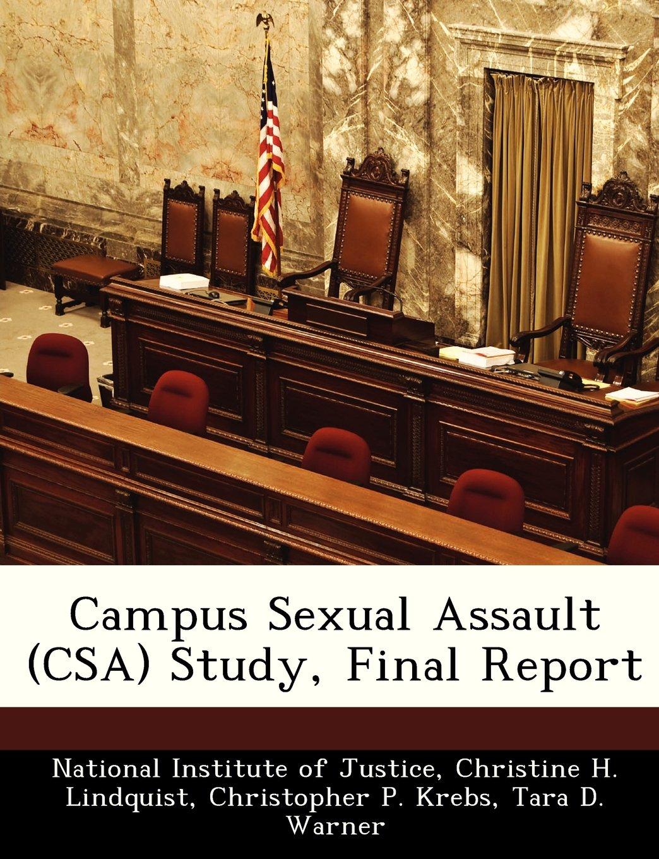 Campus Sexual Assault (CSA) Study, Final Report pdf epub