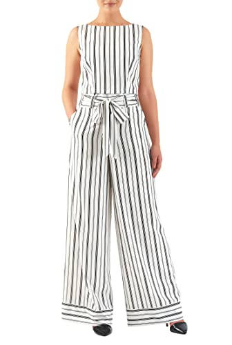 Vintage Wide Leg Pants 1920s to 1950s History  Stripe print crepe tank top and wide-leg pants $68.95 AT vintagedancer.com