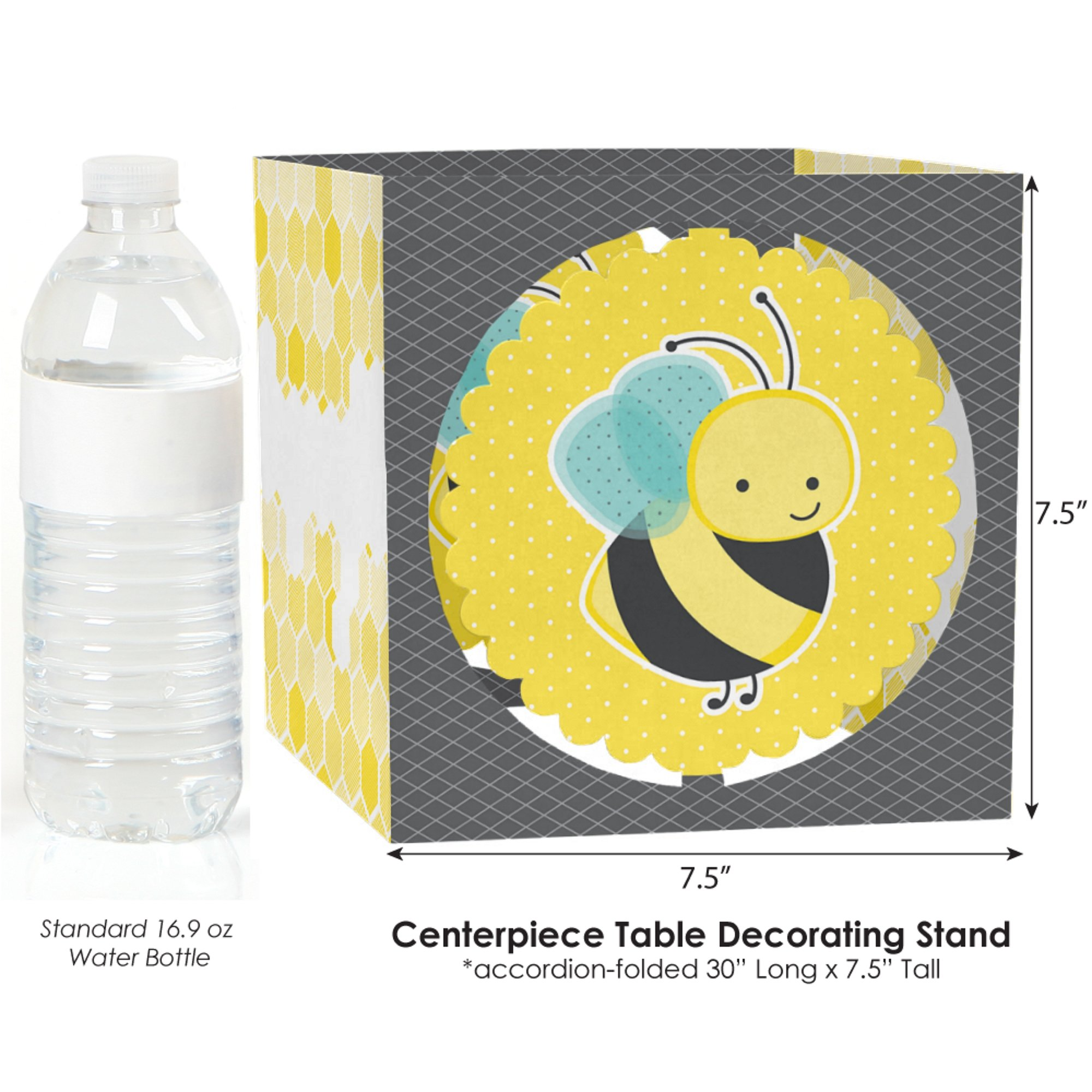 Honey Bee - Baby Shower or Birthday Party Centerpiece & Table Decoration Kit by Big Dot of Happiness (Image #4)
