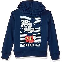 Disney Boys' Toddler Mickey Mouse Pullover Fleece, Happy