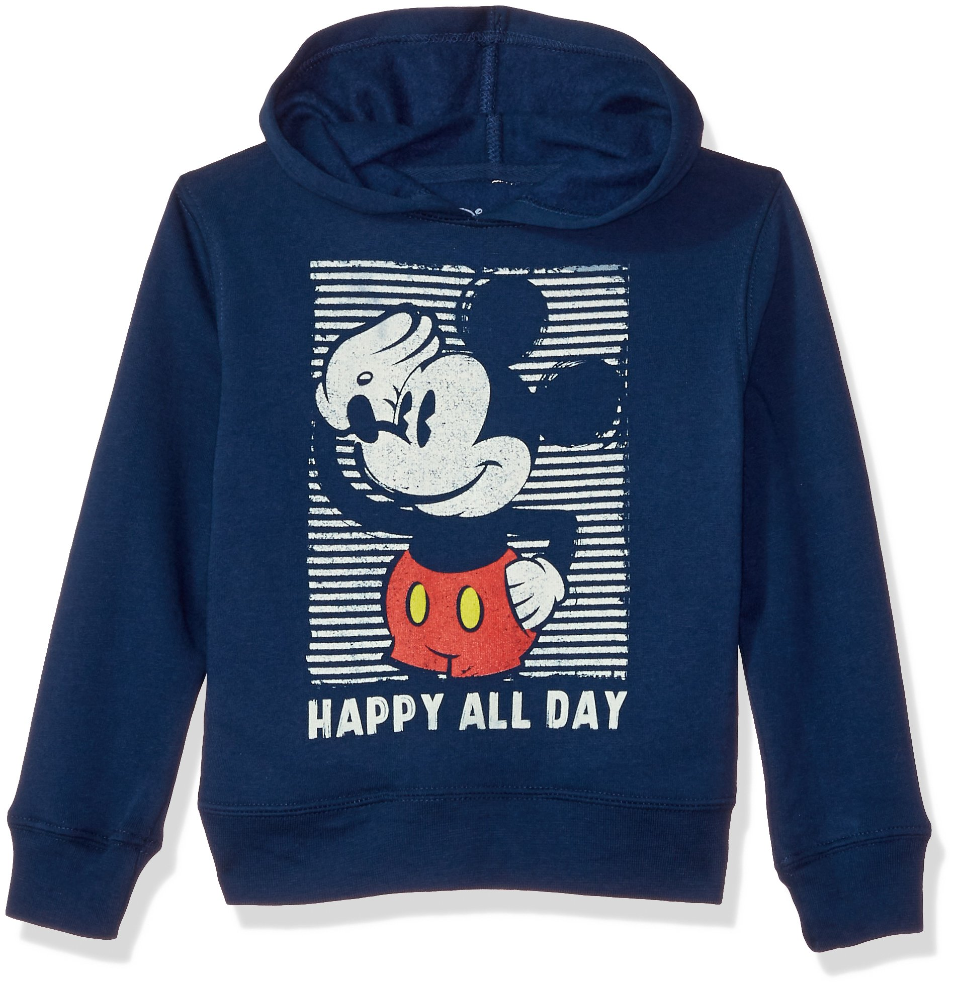 Disney Boys' Toddler Mickey Mouse Pullover Fleece Happy, 4T by Disney (Image #1)
