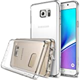 Galaxy Note 5 Case - Ringke FUSION [Crystal View] ***All New Dust Free Cap & Active Touch Technology***[FREE Bonus HD Screen Protector Included] Crystal Clear Shock Absorption TPU Bumper Drop Protection Premium Clear Hard Back [Anti-Static][Scratch Resistant] for Samsung Galaxy Note 5 - Eco/DIY Package