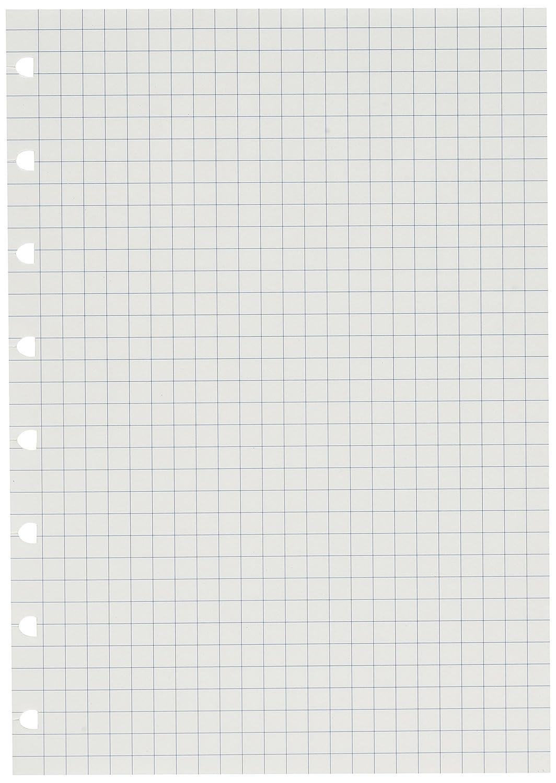 Filofax - Recambio para cuaderno tamaño A5 (a cuadros), color blanco. 152905