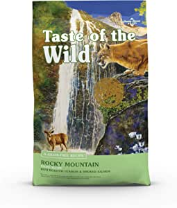 Taste of The Wild Grain Free High Protein Real Meat Recipe Rocky Mountain Premium Dry Cat Foodwith Roasted Venison & Smoked Salmon 2.27kg