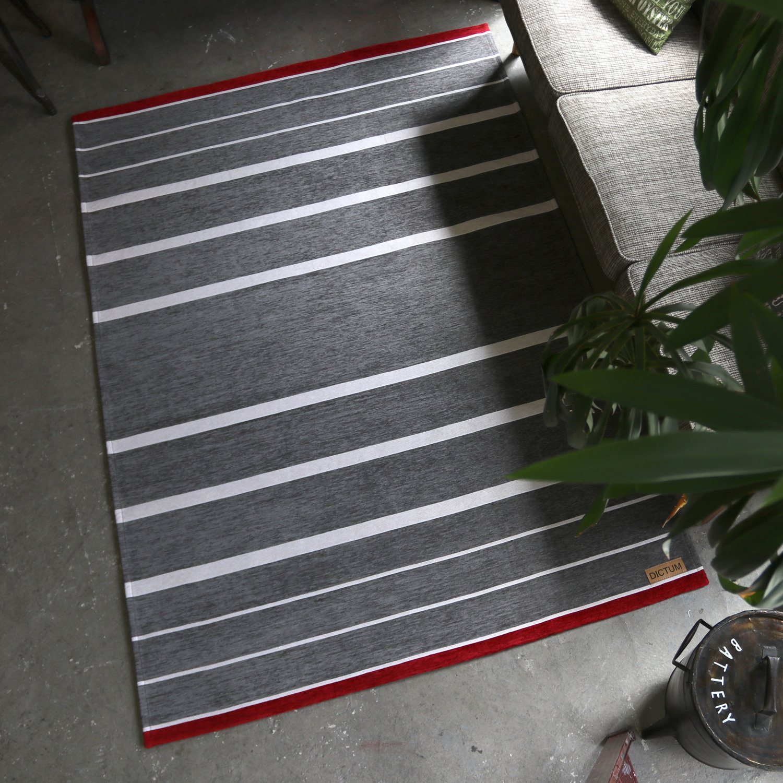 ラグマット 絨毯 ストライプ柄 約200×200cm ax-500c-200200-sgr (SUL) シルバーグレー ラグサイズ ゴブラン織りラグ ホットカーペットOK ヴィンテージ風 silver gray B01N2U7IGB シルバーグレー 約200×200cm