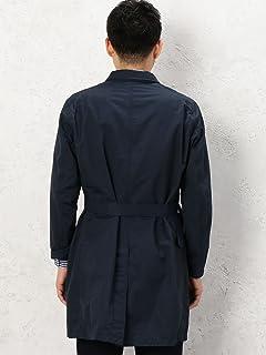 Genuin Garment Belted Work Coat 3225-199-2230: Navy