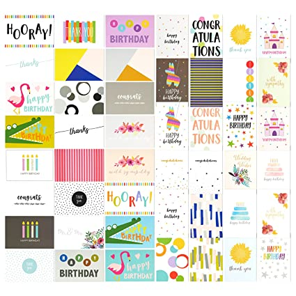 Amazon 48 pack assorted all occasion greeting cards includes 48 pack assorted all occasion greeting cards includes happy birthday congratulations thank you m4hsunfo