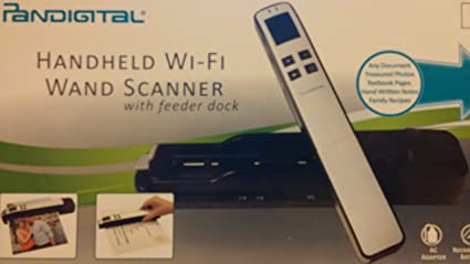 Pandigital portable wi-fi wand scanner with feeder dock (s8x1103.