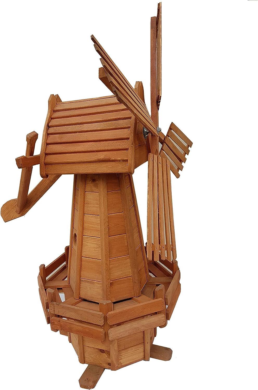 Molino de viento Windmühlen de madera para jardín kugelgelagert 110 cm Grande: Amazon.es: Jardín