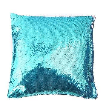 sofa deko kissenhülle mit pailletten streichen basteln muster mit ... - Wohnzimmer Deko In Turkis