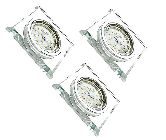 Gu10 X Diseño Bombilla Aluminio W Cuadrado 6 Handgeschliffenes Trango® 3 De Conexión Led 036d Foco Incluye Regulable Espejo Vidrioamp; Tg6729s uOiXZPk