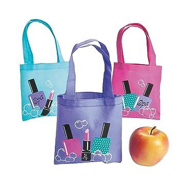 Amazon.com: Spa Party Mini Tote Bags (1 Dz): Toys & Games