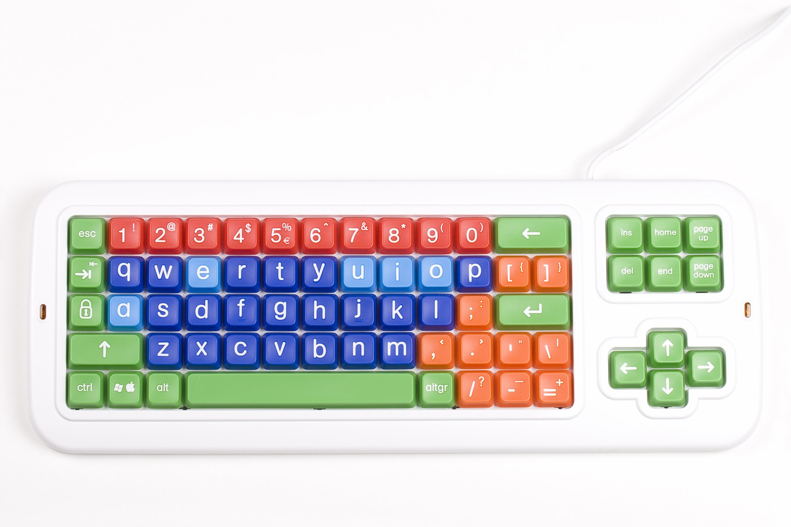 Clevy Keyboard - Large Keys, Colorful and Very Sturdy