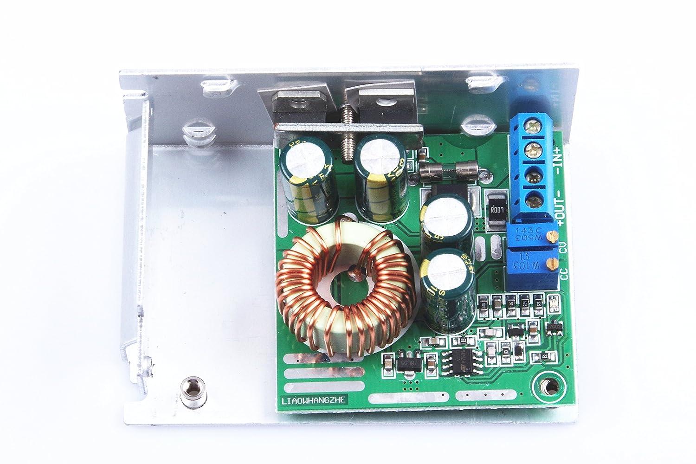 KNACRO Adjustable CV CV buck power supply module 300W DC4.5V~35V to 1.25V~29V 0.2A~12A With charging indicator//full instructions