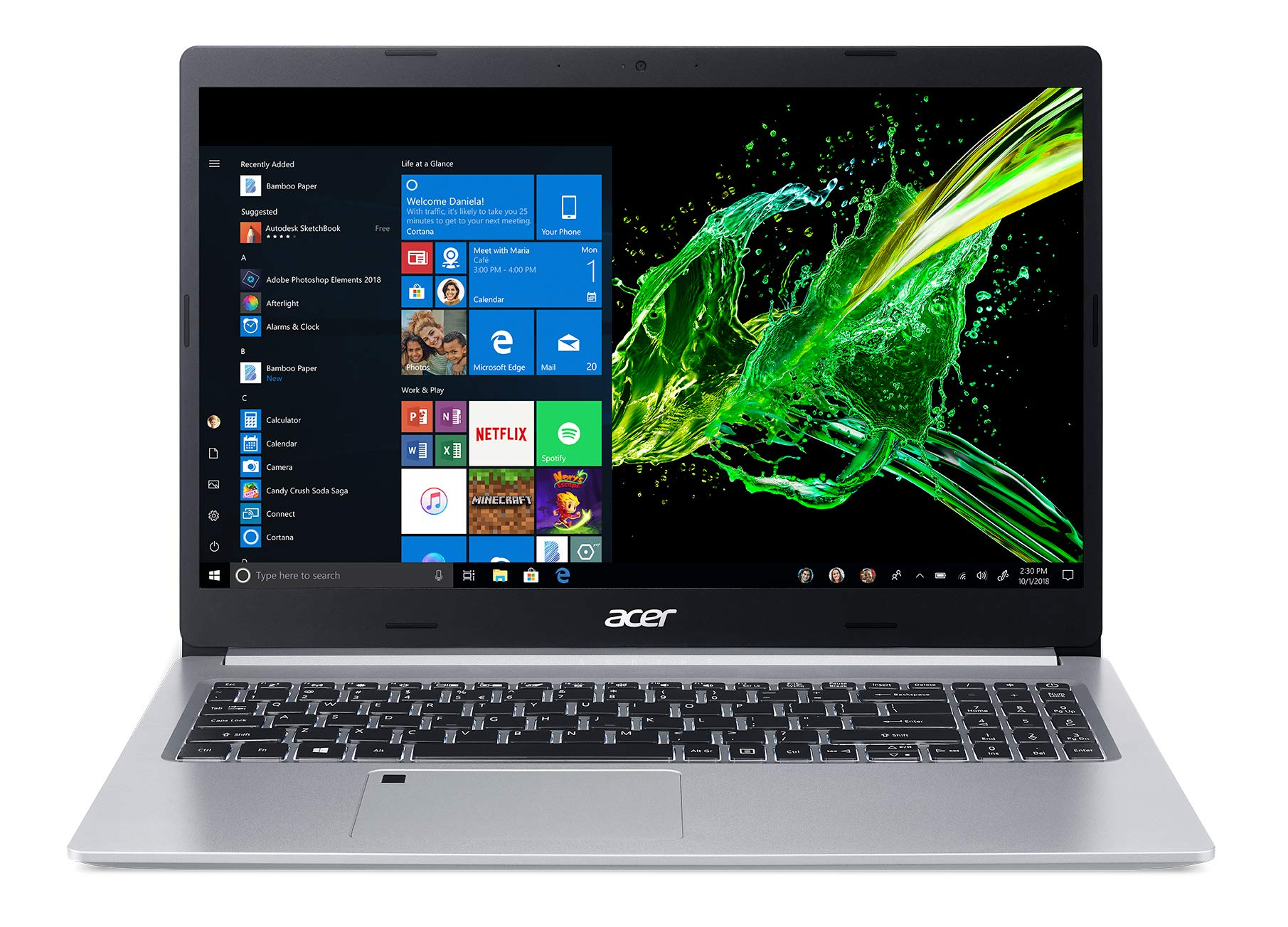 Acer Aspire 5, 15.6'' Full HD IPS Display, 8th Gen Intel Core i5-8265U, 8GB DDR4, 256GB PCIe NVMe SSD, Backlit Keyboard, Fingerprint Reader, Windows 10 Home, A515-54-51DJ by Acer (Image #5)