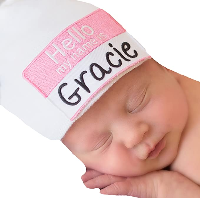 9dca570b43b Amazon.com  Melondipity That s My Name Girl Hospital Baby Hat ...