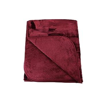 Gozze Cashmere Feel Throw Polyester Bordeaux 130 X 170 Cm Amazon