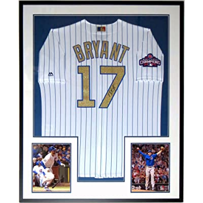 the best attitude bfb4b d6a9a Kris Bryant Signed Gold 2016 Chicago Cubs World Series ...