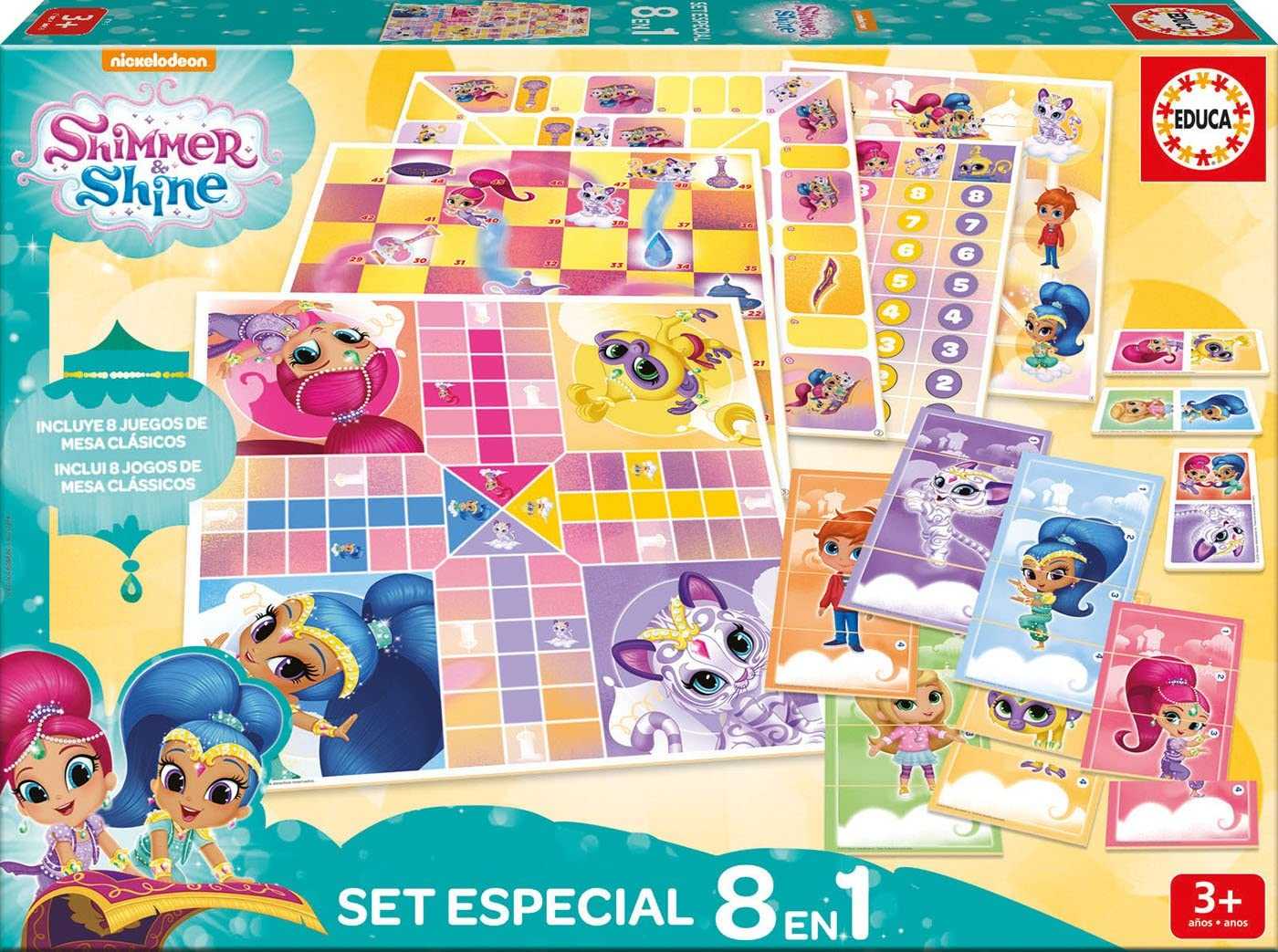 Educa Borrás- Shimmer&Shine Pack 8 Juegos Reunidos Shimmer and ...