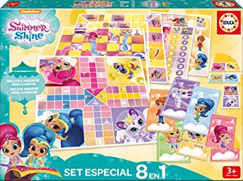 Educa Borras Shimmer Shine Pack 8 Juegos Reunidos And Mesa 17718