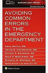 Avoiding Common Errors in the Emergency Department Paperback