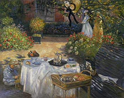 The Luncheon, Monetu0027s Garden At Argenteuil   Claude Monet Hand Painted Oil  Painting Reproduction