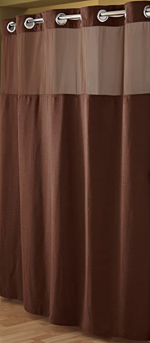 Amazon.com: Hookless RBH52D229 Fabric Shower Curtain with Built in ...