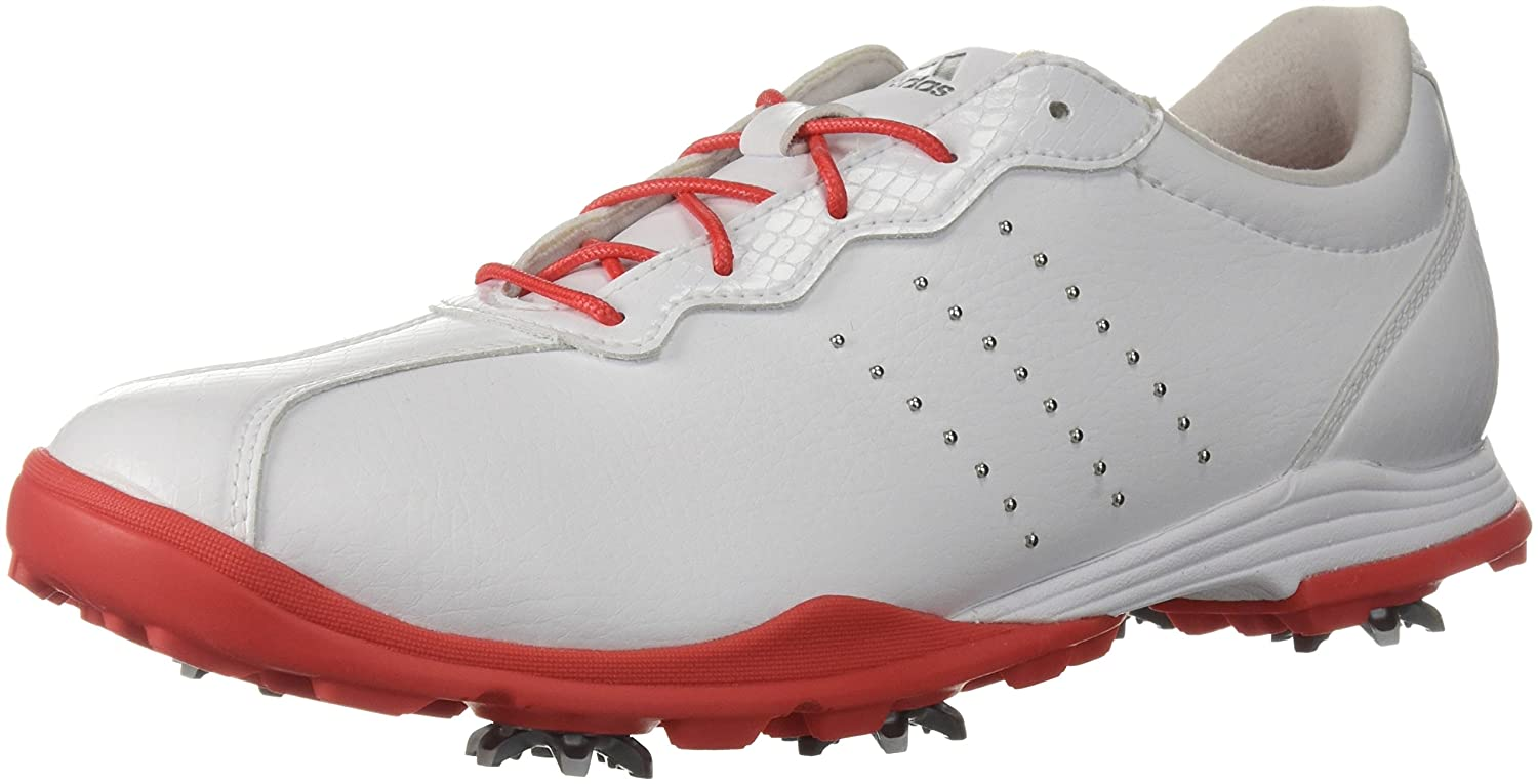 adidas Women's W Adipure DC Golf Shoe B0725Y84W8 5 B(M) US|Ftwr White/Real Coral/Silver Met.