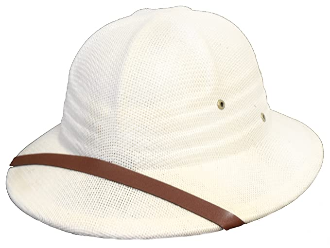 Edwardian Hats, Titanic Hats, Tea Party Hats Sun Safari Pith Helmet / White / High Quality $23.99 AT vintagedancer.com