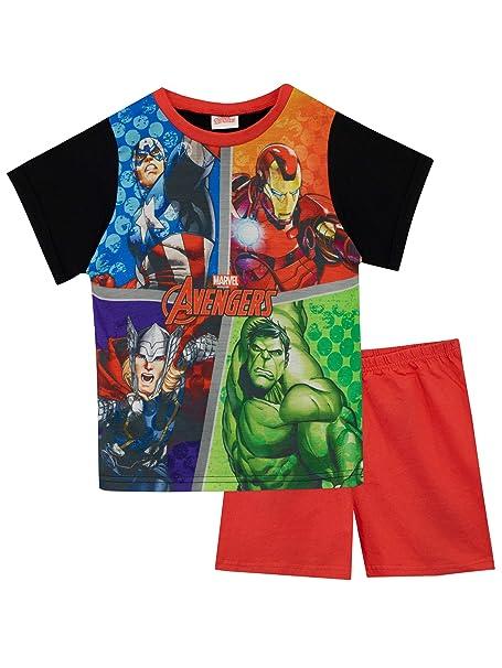 Marvel Pijamas de Manga Corta para niños Avengers 9-10 Años: Amazon.es: Ropa y accesorios