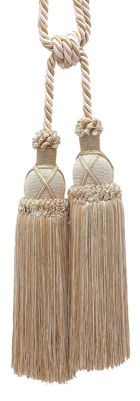 30/1//5,1/cm propagation Superbe Ivoire /4001 Beige clair Rideau et Draperie Tassel Embrasse//25,4/cm Tassel Imperial II Collection Style # Tbic-2/Couleur: blanc Sands/ Embrace 3//20,3/cm Cord