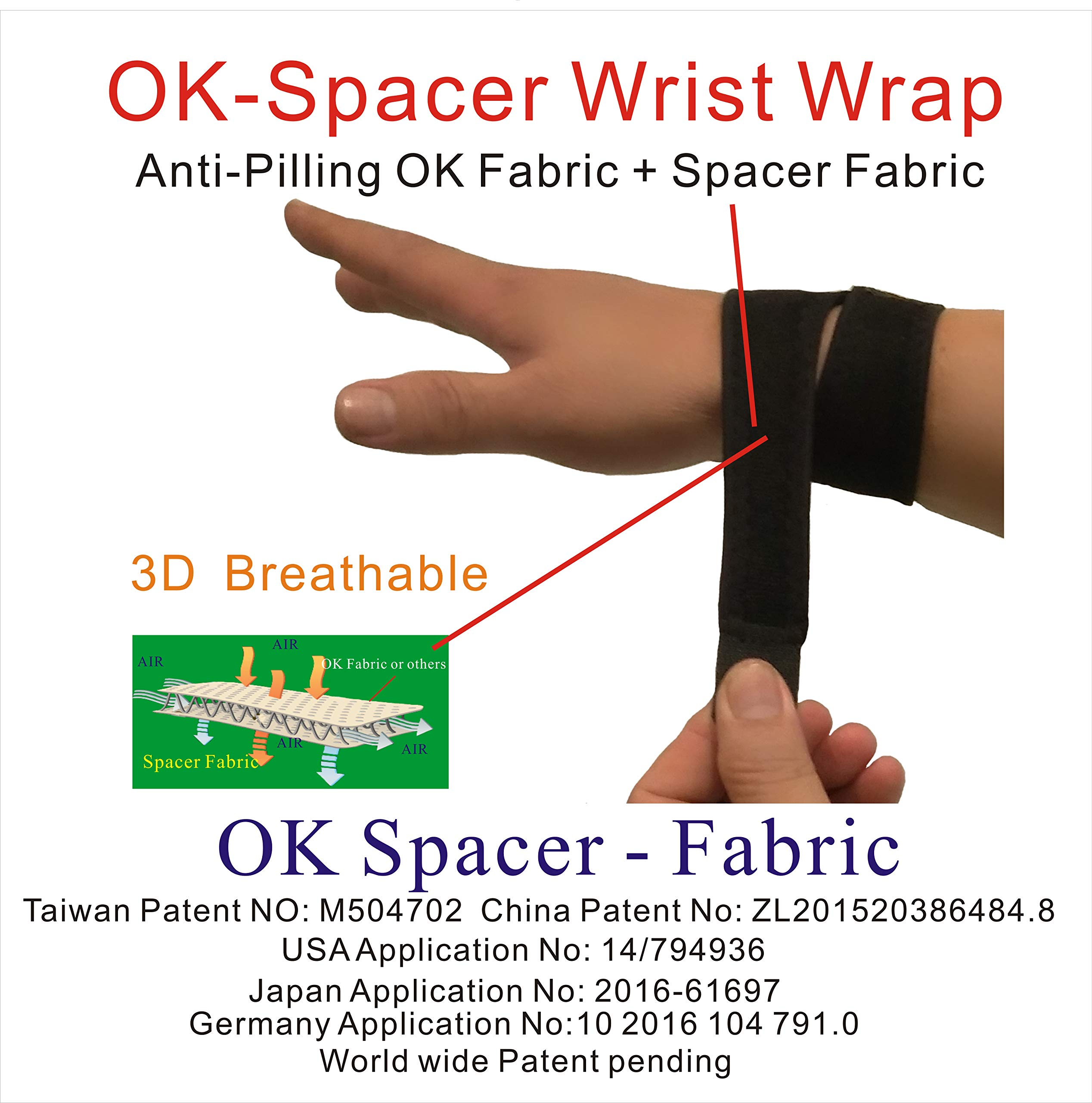 IRUFA,WR-OS-17,3D Breathable Spacer Fabric Wrist Brace, for TFCC Tear- Triangular Fibrocartilage Complex Injuries, Ulnar Sided Wrist Pain, Weight Bearing Strain, One PCS (Spacer Fabric) by IRUFA (Image #5)