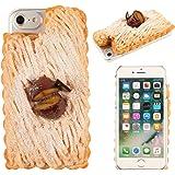 iPhone8 iPhone7 ケース カバー 食品サンプル 和栗モンブラン クリアケース ハードケース