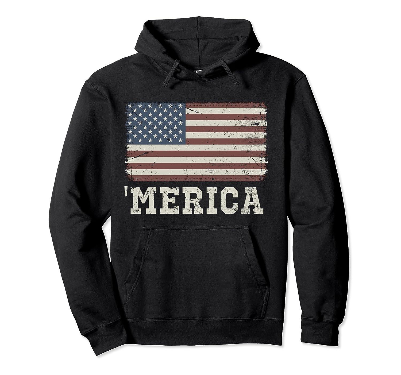'Merica Vintage USA Flag Hoodie-Newstyleth