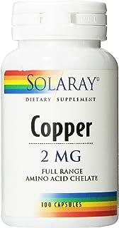 Solaray Copper Capsules 2mg, 100 Count