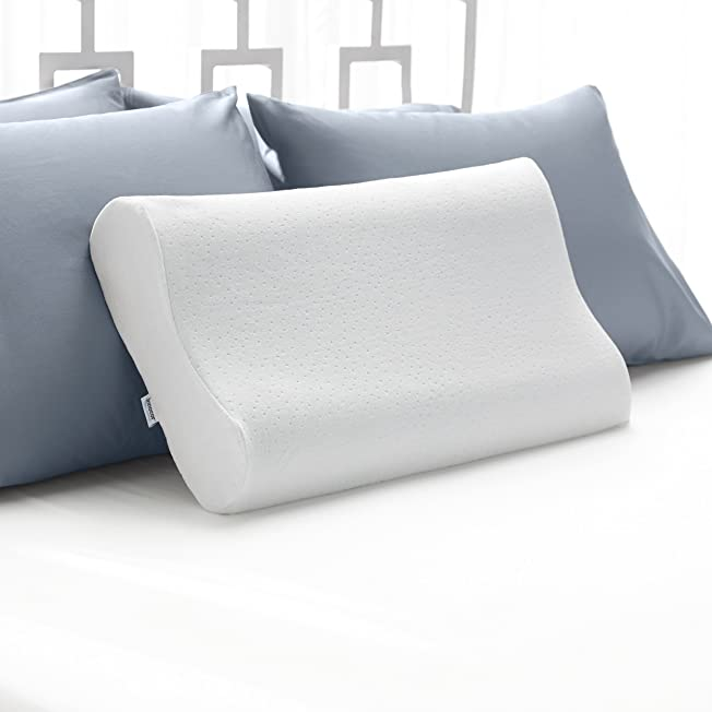 Cool Contour Memory Foam Pillow with Soft Microfiber Cover Neck Pillow