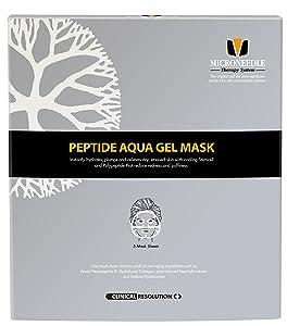 MTS Peptide Aqua Gel Mask 5 Pcs/Box, Hydrating, Soothing, Cooling, Healing, Post-treatment, Post-rolling, Reduce Redness and Stinging Feeling
