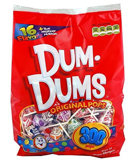 Dum Dums Lollipops (300 Count.