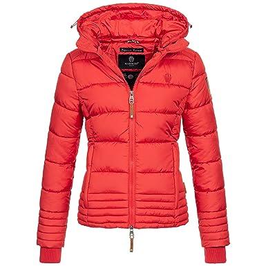 7be6ba79371e Marikoo Damen Winter Jacke Parka Winterjacke Steppjacke Daunen Look Kapuze  warm gefüttert Sole150 XS-XXL 9-Farben  Amazon.de  Bekleidung