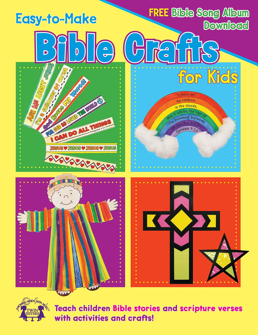 Sunday school crafts for preschool - Easy To Make Bible Crafts For Kids Activity Book I M Learning The Bible Activity Book Twin Sisters Kim Mitzo Thompson Karen Mitzo Hilderbrand
