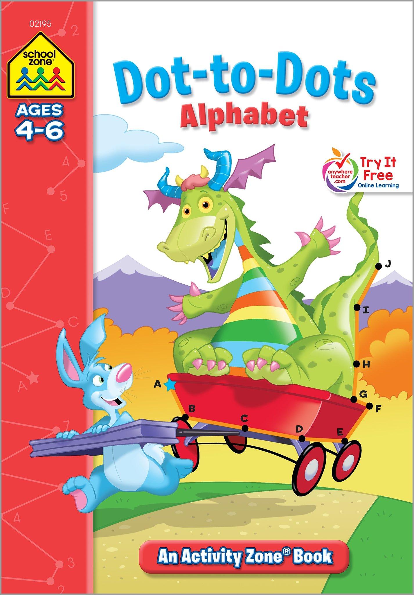 dot to dot alphabet activity zone ages 4 6 julie orr jennifer