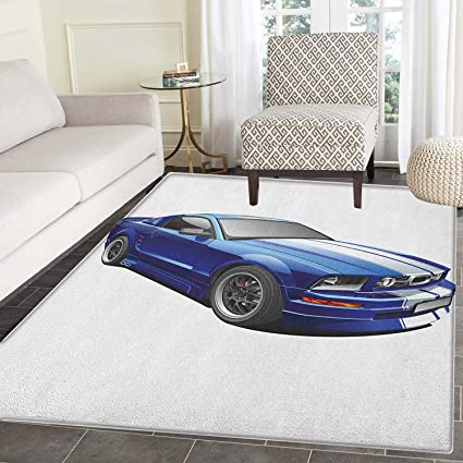 Amazon Com Teen Room Non Slip Rugs American Auto Racing Theme Car