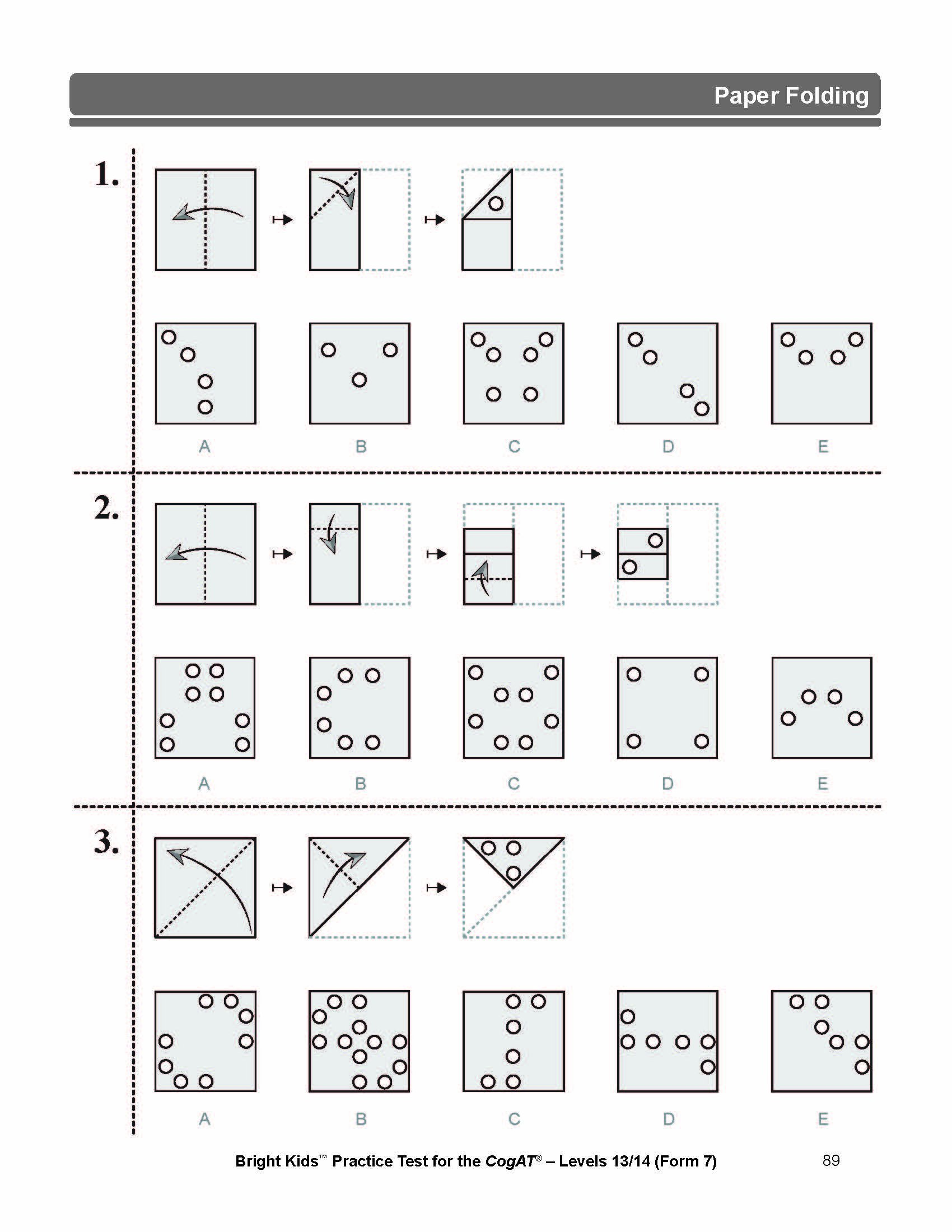 Practice Test for the CogAT - Levels 13/14 (Form 7): Bright Kids ...
