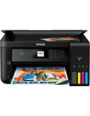 Epson Expression ET-2750 EcoTank Wireless Color All-in-One Supertank Printer with Scanner and Copier, Black