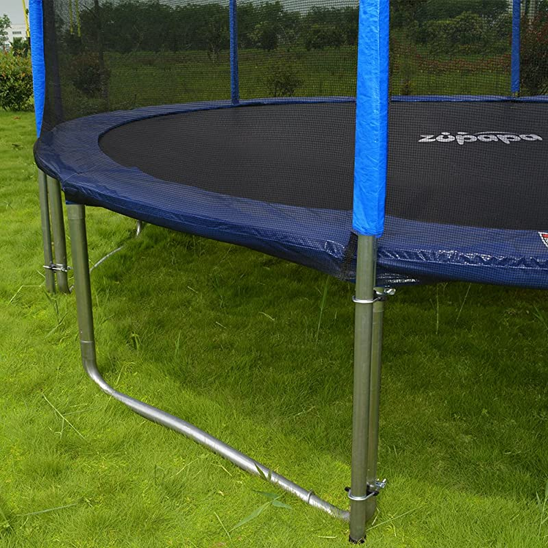Zupapa 15 14 12 Ft TUV Approved Trampoline with Enclosure net and pole