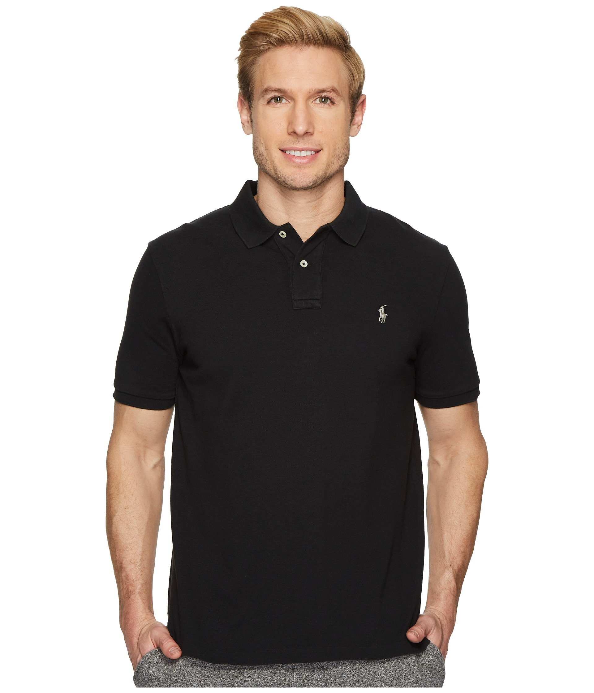 Polo Ralph Lauren Classic Fit Mesh Polo Black Size Small