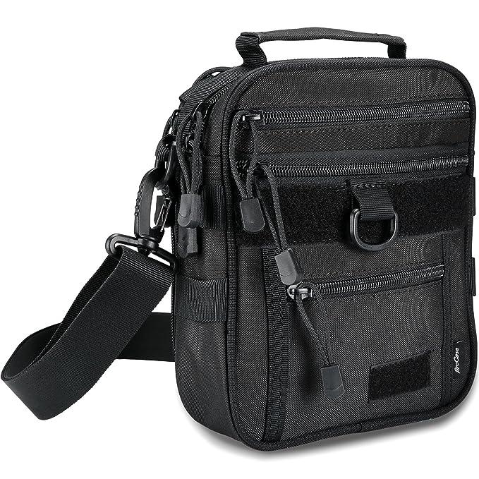 Tactical Gun Bag, Military Molle Gear Pistol Shoulder Strap Bag Handgun Ammo Accessories Pouch Shooting Range Duffle Bag for Hunting or Shooting Range Sport