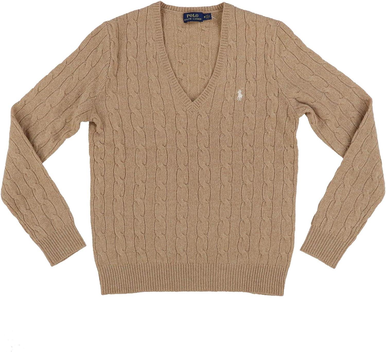 Ralph Lauren Womens Wool Sweater (X-Small, Tan)